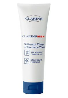 Clarins Active Face Wash Foam Gel For Men 125ml Man up for an ultraclean complexion with a gentle foaming cleanser that tackles dirt, grime and pollutants with the gentle purifying power of Grindelia and Gaultheria extracts. Leaves razorburned skin http://www.MightGet.com/january-2017-11/clarins-active-face-wash-foam-gel-for-men-125ml.asp