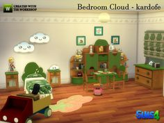 Children's bedroom, very colorful and happy, with everything needed for small sims can rest and play in the  Found in TSR Category 'Sims 4 Kids Bedroom Sets'