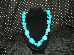 you likey???  Chunky Turquoise necklace and earring set by Trinketastic on Etsy, $25.00
