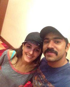Isha Talwar and Nivin Pauly at SIIMA Rehearsal