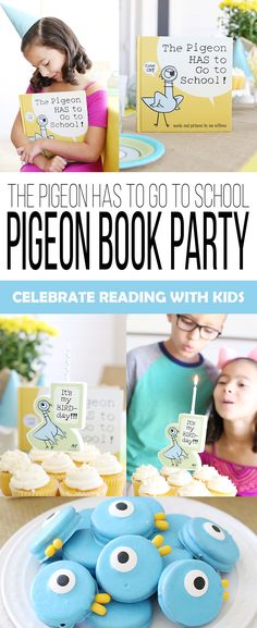 Celebrate the release of a new Mo Willems book for kids with a pigeon party! Kids will love planning their own The Pigeon HAS to Go to School! Diy Fizzy Bath Salts, Pigeon Books, Chocolate Candy Melts, Elephant Party, Mo Willems, Toddler Books, School Parties, Party Entertainment, Science For Kids