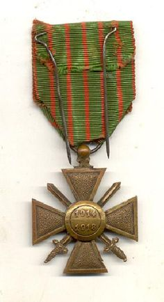 World War 1 French Croix de Guerre Medal by TheMilitarizedZone, $99.99