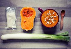Roasted Butternut Pumpkin & Leek soup. Recipe here www.veggie-wedgie.com/?p=2291