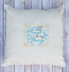 You Will Forever Be My Always Pillow by mycousinmadeit on Etsy