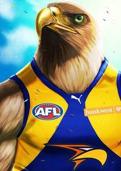 2015 GRAND FINAL - EAGLES Football Team Logos, Sports Logos, Australian Football League, West Coast Eagles, Go Eagles, Western Australia, Pictures, Board, Birthday Cards