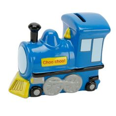 Ceramic Blue Train Money Box is a very eye catching money box to present as #Christening_gift to a baby boy http://www.a1gifts.co.uk/gifts/Ceramic-Blue-Train-Money-Box.aspx