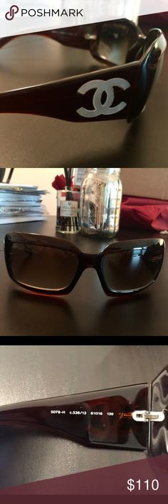 Chanel 5076H Mother of Pearl Sunglasses Brown SOLD ON EBAY Gently used Chanel 5076H Mother of Pearl Sunglasses. A few small scratches but overall good condition. Lenses are in good shape as well. Come with case. Case has a few scratches as seen in photos.  Guaranteed authentic, purchased at Neiman Marcus in Northbrook, IL CHANEL Accessories Sunglasses
