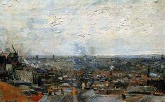 Vincent van Gogh, Vista di Parigi da Montmartre, 1886