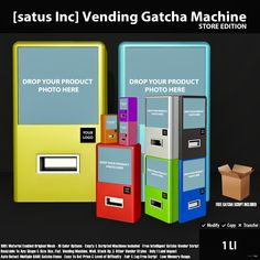 New Release: Vending Gatcha Machine Store & Event Editions by [satus Inc]