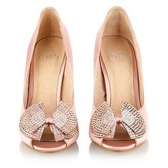 Pale pink rhinestone bow courts - High heel shoes - Shoes & boots - Women -
