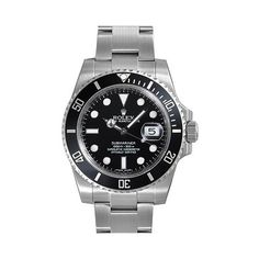 Rolex Submariner# Black Dial Ceramic Bezel Steel Mens Watch 116610LN
