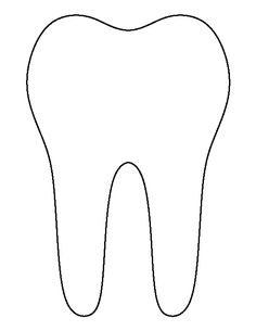 Use the printable outline for crafts, creating stencils… Tooth Pillow, Tooth Fairy Pillow, Dental Assistant, Dental Hygiene, Tooth Template, Fairy Templates, Dental Health Month, First Tooth, Teeth Care