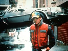 Michael J. Fox as Marty McFly behind the scenes on #BackToTheFuture 2 (1989)