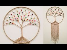 hand embroidery amazing trick# easy trick to make woolen flower with scale# wool flower - Free Online Videos Best Movies TV shows - Faceclips Dream Catcher Patterns, Dream Catcher Craft, String Art Patterns, Macrame Patterns, Macrame Wall Hanging Diy, Macrame Owl, Tree Of Life Jewelry, Macrame Design, Macrame Projects