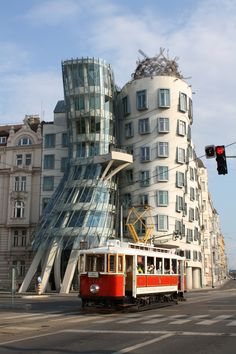 I turned 25 in Europe and spent my birthday in Prague! I fell in love with the city. Here's the iconic Prague Dancing House - complete with tram passing by at just the right moment!