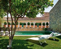 house in Mallorca Spanish Garden, Spanish House, Spanish Pool, Outdoor Spaces, Outdoor Living, Small Fireplace, Dream Pools, Garden Pool, Cool Pools