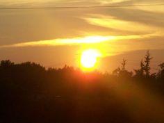 Sunset Over Thurlow Ward Belleville Ont