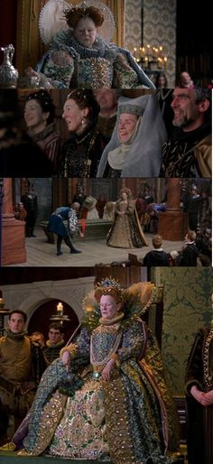 Shakespeare in Love Dame Judyt Dench as Elizabeth I Sandy Powell Elizabethan Gown, Anne Marie Duff, Glenda Jackson, Sandy Powell, Stage Beauty, Colleen Atwood, The Other Boleyn Girl, Shakespeare In Love, Renaissance Gown