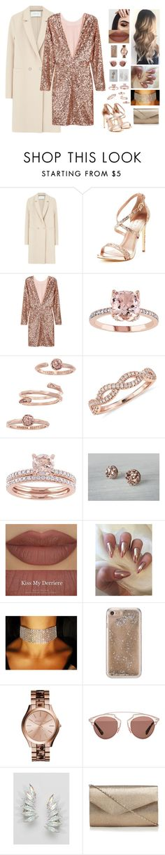 """""""New Year Outfit!"""" by aysuyucel ❤ liked on Polyvore featuring Harris Wharf London, Kendra Scott, Blue Nile, Derriére, Agent 18, Christian Dior and Krystal"""