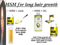 CoilyQueens™ : MSM organic sulfur helps you grow hair longer, faster and stronger! Natural Hair Tips, Natural Hair Styles, Long Hair Styles, Grow Long Hair, Grow Hair, Honey Hair, Juice Drinks, Hair Growth Oil, Hair Remedies