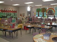 Photos of teacher's classrooms from all over the country (ideas for decorating/arranging)