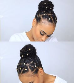 We've all have had bad natural hairstyle days. Bad hair days shouldn't stop you from doing the things that are important to you. This video shows a natural hairstyle for bad hair days. Get some tips on how to deal with a bad hair Natural Hair Haircuts, Natural Hair Updo, Natural Hair Styles, Protective Hairstyles For Natural Hair, My Hairstyle, Afro Hairstyles, Black Hairstyles, Twisted Hair, Pelo Afro