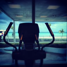 Workout with a View at our WestinWORKOUT Fitness Center open 24 hours :)