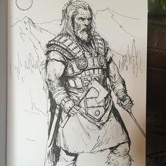 regram @karlkopinski #inktober #inktober2015 #sketching big bad barbarian