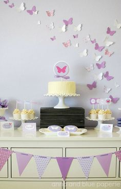 Custom #Butterfly #Birthday - PRINTABLE DIY Party Collection- by anna and blue paperie