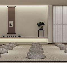 Modern Chinese Interior, Asian Interior, Japanese Home Decor, Japanese Modern, Pretty Things, Zen Interiors, Tatami Room, Zen Style, Interior Architecture