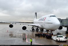 AirFrance KLM B747 F-GITE aircraft at Paris Charles de Gaulle Airport. Flight crew taking photo! (click photo-enlarge)