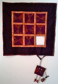 The runaway quilt block wall hanging My version is