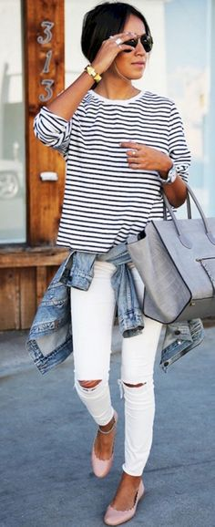 Breathtaking 50 Perfect White Denim Outfits for Spring and Summer from https://www.fashionetter.com/2017/05/17/51-perfect-white-denim-outfits-spring-summer/