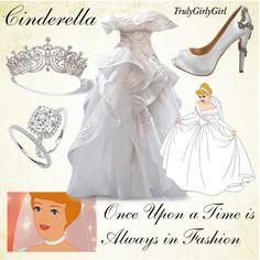 Disney Style: Cinderella created by trulygirlygirl Disney Princess Fashion, Disney Inspired Fashion, Disney Princess Dresses, Princess Outfits, Disney Style, Disney Fashion, Disney Prom, Disney Wedding Dresses, Disney Dresses