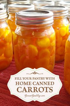 Take advantage of the fall harvests to stock your pantry shelves with home canned carrots and build your home food storage.