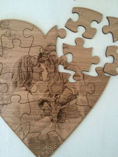 Wooden Heart Wood Heart Wooden Puzzle by SweenksCustomLaser