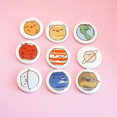 Planet Cats • 1 Buttons or Magnets by thepinksamurai on Etsy, $10.00