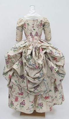 Liked on Pinterest: Robe à la Polonaise Date: ca. 1780 Culture: French Medium: silk Accession Number: 1976.146a b