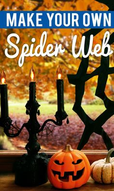How to make a spider web out of rope knots spider webs for Make your own halloween decorations