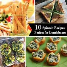 Pump up the iron with these 10 Spinach Recipes Perfect for the Lunch Box