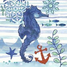 La Mer Seahorse Coastal by Jennifer Brinley | Ruth Levison Design