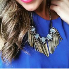 Gold Statement Necklace, Similar To Stella And Dot