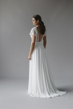 a7bb998cbb534 Sally Eagle's Ophelia wedding dress from her bridal collection Vintage  Inspired Wedding Dresses, Custom Wedding
