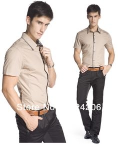 2014 Spring Men fashion casual short-sleeve shirt male fashion shirt slim Good quality New brand Slim Fit Stylish Dress Shirts $26.55 http://www.aliexpress.com/store/product/2014-Spring-Men-fashion-casual-short-sleeve-shirt-male-fashion-shirt-slim-Good-quality-New-brand/1024206_1623750248.html