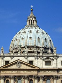Cúpula de San Pedro del Vaticano (1547-1564). Roma, Italia  Arquitecto: Miguel Ángel Buonarroti