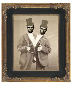 Conjoined Twin Abraham Lincoln Art Print 8 x 10