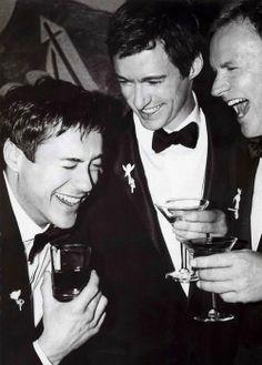 Robert Downey Jr., Hugh Jackman, and Sting