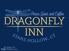 Dragonfly Inn T-Shirt - http://teecraze.com/dragonfly-inn-t-shirt/ -  Designed by Snorg Tees    #tshirt #tee #art #fashion #TCRZ #clothing #apparel #GilmoreGirls