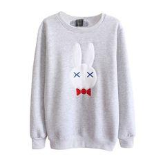 PanDaDa Girls Rabbit Pullover Clothes Sweatshirt Long Sleeve Sweater Gray at Amazon Women's Clothing store:
