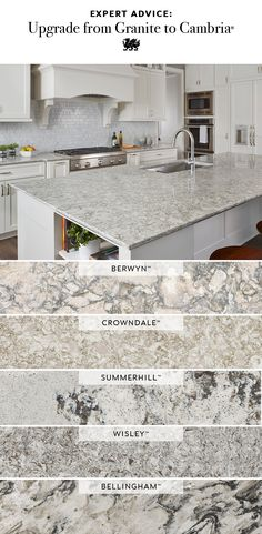 Cambria gives the look of granite, with none of the upkeep. These durable granite alternative countertops are stain resistant and nonporous. Cambria never requires sealing for beauty that lasts. #quartzcountertops #kitchenupdate #kitchenrenovation #MyCambria